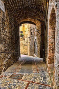 Ancient Passage. Todi, Umbria, Italy