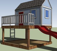 How to Build a Playhouse, Free and Easy DIY Project Plans Kids Playhouse Plans, Outside Playhouse, Backyard Playhouse, Build A Playhouse, Playhouse Kits, Simple Playhouse, Outdoor Playhouses, Pallet Playhouse, Wooden Playhouse