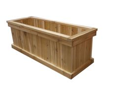 16 In. x 36 In. Rectangular Cedar Planter Box