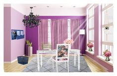"""""""Work hard shop hard 💜 dream office"""" by lulalalala ❤ liked on Polyvore featuring interior, interiors, interior design, home, home decor, interior decorating, Home Essentials and Whitmor"""