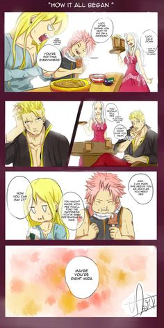 Art by cdartcd on devientart, How it All Began, Lucy and Laxus