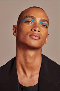 Eye Makeup, Runway Makeup, Makeup Art, Beauty Makeup, Hair Makeup, Makeup Inspo, Makeup Inspiration, Men Wearing Makeup, Makeup Black