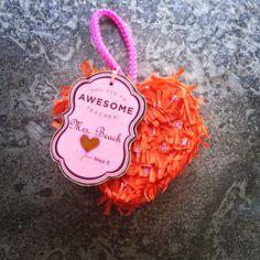 mini heart pinata. teacher valentines gift idea. by Lena Sekine