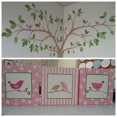 Decoración infantil integral.  Diseño de murales y complementos decorativos. Ballerina Room, Crafts With Pictures, Wall Pictures, Doll Beds, Quilted Wall Hangings, Hand Painted Furniture, Craft Business, Diy Canvas, Vinyl Designs