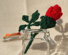 PDF Crochet Pattern for Valentines Rose Bud £1.50