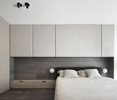 Midcentury modern apartment located in Terni, Italy, designed in 2020 by Studio Mabb. Exterior Design, Interior And Exterior, Penthouse Pictures, Bed Wall, Decoration Design, E Design, Midcentury Modern, Studio, Bedroom
