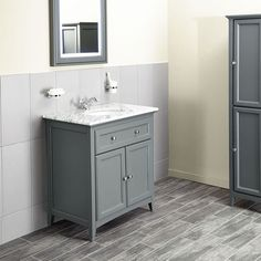 Savoy Charcoal Grey 790 basin unit - with marble top and basin image 1 Sink Vanity Unit, Freestanding Vanity Unit, Bathroom Sink Units, Vanity Units, Vanity, Bathroom, Granite Tops, Latest Bathroom Designs, Bathroom Design