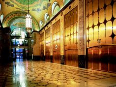 Fisher Theatre inside the beautiful Fisher Building in New Center, Detroit
