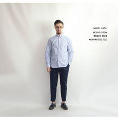 MANUAL ALPHABET マニュアルアルファベット スーピマ綿 40/2 播州織 プレミアム オックスフォードシャツ ボタンダウン 日本製 メンズ