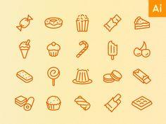 Sweet treats - 30 icons by Joe Harrison #icon #design #free #download #freebie