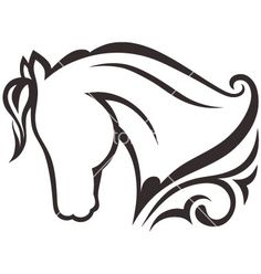 Horse silhouette vector art - Download Logo vectors - 893974