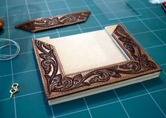 Western Belts CUT and  upcycled into a vintage styled Picture Frame