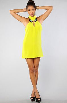 The Keyhole Dress in Chartreuse by Naven. 20% off at Karmaloop with rep code 4NE12USE