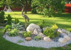 Front Yard Garden Design Stunning Rock Garden Design Ideas - Quiet Corner - Rock gardens can turn grassy areas and awkward,difficult-to-mow slopes into a low-maintenance landscape.Check out the inspirational rock garden design ideas Landscaping With Rocks, Front Yard Landscaping, Landscaping Plants, Luxury Landscaping, Landscaping Melbourne, Landscaping Edging, Decorative Rock Landscaping, River Rock Landscaping, Inexpensive Landscaping