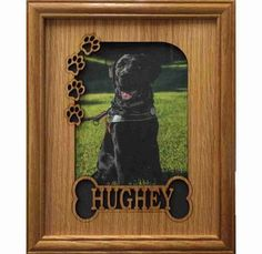 8x10 Personalized Dog Picture Frame with Name - Bone & Paw Prints #Handmade