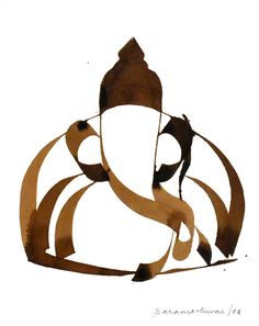 Ganesha Painting, Ganesha Art, Krishna Art, Marathi Calligraphy, Shree Ganesh, Indian Art Paintings, India Art, Illustration Art, Illustrations