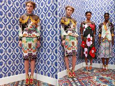 tatanaka17 Tamara and Natasha Surguladze for Tata Naka Fall 2014 collection. Gorgeous eccentric designs.