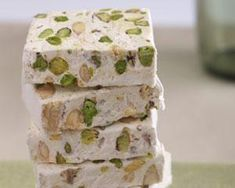 Nougat recipe by Rachel Allen. I will use the hazelnut option. I can't wait to try this!