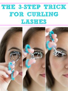 Without pulling lashes, gently clamp eyelashes halfway toward the roots and rotate your eyelash curler up toward your forehead to get more intensely curled eyelashes. 26 Mind-Blowing Hacks to Get Flawless Eyelashes Every Time Eyelash Tips, Eyelash Curler, Eyelash Extensions, Makeup Tips, Beauty Makeup, Eye Makeup, Makeup Hacks, Makeup Brushes, Concealer