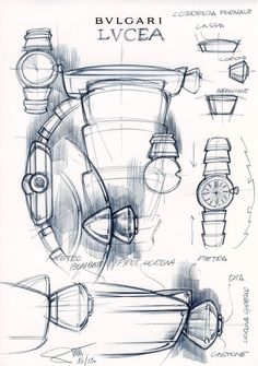 Buonamassas sketch for Lucea, an exclusive line for women. He carries the design sketches with him.