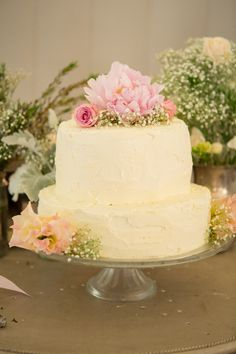 a wedding cake should always be about your own personal style - more soft yellow and pink tones