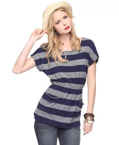 Stripped Pocket Tunic