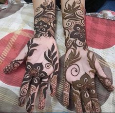 نقش حنا Pakistani Henna Designs, Arabic Henna Designs, Unique Mehndi Designs, Beautiful Henna Designs, Beautiful Mehndi, Bridal Mehndi Designs, Henna Tattoo Designs, Tattoo Ideas, Arabian Mehndi Design