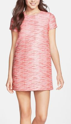 Cute multi pink shift minidress.