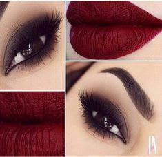 Ahumado suave #rojo #makeup