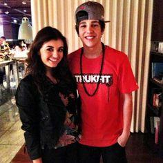 Austin Mahone and Rebecca Black
