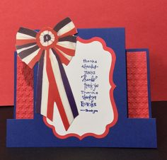 Troop thank you card