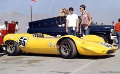 1967 Riverside, Can-Am, paddock, Shelby Racing Co., Inc. with King Cobra nr55 (Titus) dnf