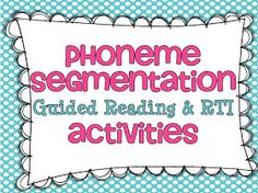 Little Minds at Work: Phoneme Segmentation {and a freebie}