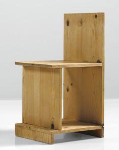 Donald Judd PROTOTYPE CHAIR pine 30 x  14 3/4  x 15 7/8  in. (76.2 x 37.5 x 40.3 cm) 1979