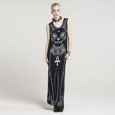 Bast Cat Goddess Maxi Dress – #NYLONshop