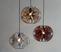 String lampshades - could make this by repurposing the frame from an old lampshade