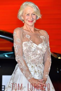 Helen Mirren in Badgley Mischka at the Tokyo International Film Festival 2015   Tom & Lorenzo Fabulous & Opinionated