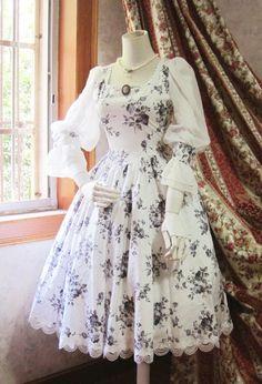 Surface Spell Black Gothic Lolita Dress $95.99-Girls Cotton Dresses - My Lolita Dress