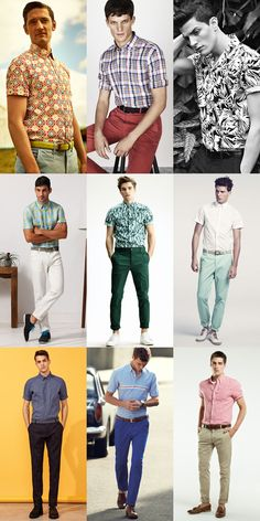 Men's Short-Sleeved Shirts - Tucked In Outfit Inspiration Lookbook