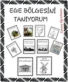 EGE BÖLGESİNİ TANIYORUM KİTABIM Emine öğretmen Tabu, Kids House, Pre School, Geography, Montessori, Eminem, How To Plan, Education, Bullet Journal