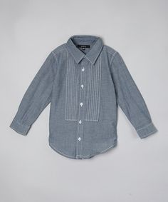 Love this Blue Chambray Pleated Shirt - Toddler & Girls on #zulily! #zulilyfinds