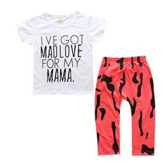 439202716 2pcs Bohemian Printed Girls Clothing Set Kids Outfits Clothes T Shirt +  Short On Sale -