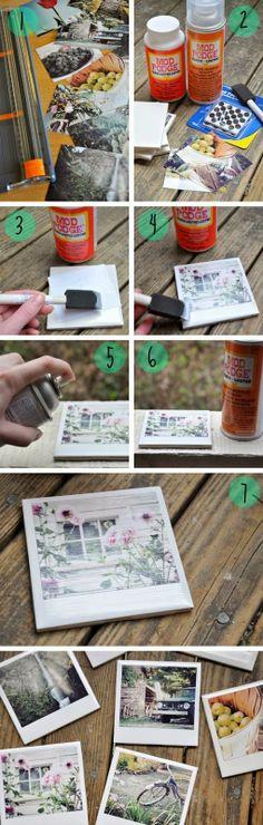 D.I.Y. Fotos Polaroid con azulejos