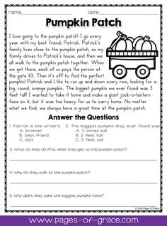 Reading comprehension daily passages. If you are looking for fun activities to help your students with reading comprehension strategies, check out this packet of daily passages for the month of October and Halloween! Each worksheet has a short story with an illustration and 5 comprehension questions. Great for advanced 1st grade, 2nd grade, and 3rd grade extra practice. Kids enjoy reading these fun stories while improving their skills.