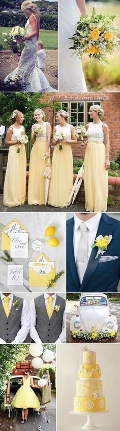 Citrus Yellow Wedding Inspriation: