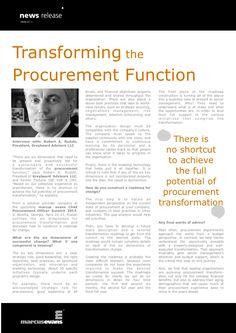 transforming-the-procurement-function-interview-with-robert-a-rudzki-president-greybeard-advisors-llc by marcus evans via Slideshare