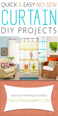 Quick and Easy No-Sew Curtain DIY Projects - The Cottage Market