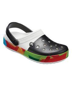 8c12f7c6447 Love this White Crocband™ Prismatic Clog - Adult on  zulily!  zulilyfinds  Crocs