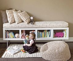 Cosy play and reading space