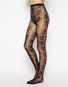 Picture 2 - Gipsy - Fishnet Tights Floral